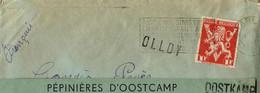 Enveloppe (entière)  Obl. CHARLEROI   + Griffe De OLLOY - Sello Lineal