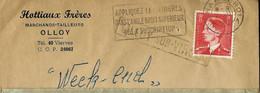 Enveloppe (entière)  Obl. CHARLEROI   + Griffe De OLLOY - SUR - VIROIN  Encadrée - Sello Lineal