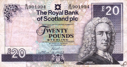 """United Kingdom Scotland 20 Pounds 2007 F-VF P-354d """"free Shipping Via Registered Air Mail"""" - 20 Pounds"""