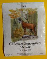 17270 - Réserve De Chasse 2004 Cabernet Sauvignon Merlot Vin De Pays D'Oc Chamois - Hunting
