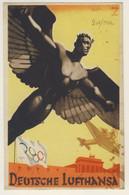 German Aviation - Lufthansa Advertising Postcard - Berlin Postmark Dated 28/9/1936 On 6 Pf. (2 Images) - Publicité