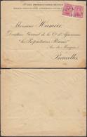 Belgique - Lettre Oblitérée Fortune HUY 1  Avec Timbres Nr. 138 (x2) à Destination Bruxelles..(DD) DC-9695 - Altre Lettere