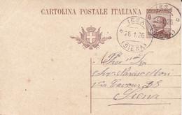 CARTOLINA POSTALE DA CENT. 40 DEL 1925 - SPEDITA DA IESA (MONTICIANO) IL 28/1/1926 PER SIENA - Interi Postali