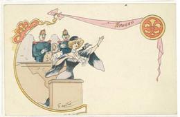 "G. MOUTON - ""Avocat"" Femme - Belle Illustration    (5206 ASO) - Andere Illustrators"