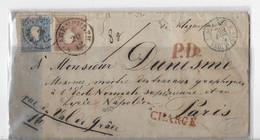 ⭐⭐ Autriche 50 KR En Charge Avec Cachet De Cire De La Direction Des Postes Pour Paris 1959⭐⭐ - Covers & Documents