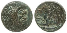 Antique Coins, Greek Coinage, Cimmerian Bosporos, Pantikapaion, AE Tetrachalkon 345-310BC, XF - Greche