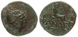 Antique Coins, Greek Coinage, Cimmerian Bosporos, Phanagoria, AE Tetrachalkon 109-100BC, XF - Greche