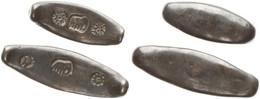 Primitive Money, Kingdom Of Siam, Set With 2 Original Copper Canoe Money With Elephant Stamps (20 & 31,50 Gram), XF - Origine Sconosciuta