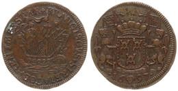 Spanish Netherlands, Copper Token 1697 Brussels - Rentmeester Franciscus, Jean Jacques De Brouckhoven, Dugnolie 4649, SC - [ 1] …-1795 : Periodo Antico