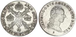 Austrian Netherlands, Joseph II, 1/4 Kronenthaler Silver 1788B Head Right, KM 38, VF/XF - [ 1] …-1795 : Periodo Antico