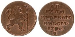 Austrian Netherlands, Insurrection Coinage, 1 Liard Copper 1790 Rampant Lion, KM 44, A.UNC - [ 1] …-1795 : Periodo Antico