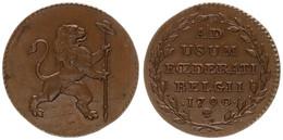 Austrian Netherlands, Insurrection Coinage, 2 Liards Copper 1790 Rampant Lion, KM 45, XF - [ 1] …-1795 : Periodo Antico