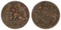 Belgium, Kingdom, Leopold I, 1 Centime Copper 1845 Lion With Tablet, Morin 118, VF - Non Classificati