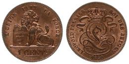 Belgium, Kingdom, Leopold I, 1 Centime Copper 1850 Lion With Tablet, Morin 123, RARE, UNC ! - Non Classificati