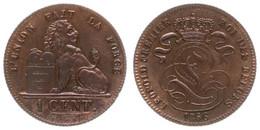 Belgium, Kingdom, Leopold I, 1 Centime Copper 1856 Lion With Tablet, Morin 124, XF - Non Classificati