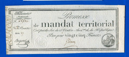 Ass  Mandat  Territorial  L'an  4  1792  25  Fr - Assignats