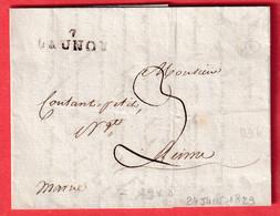 MARQUE 7 LAUNOY ARDENNES 1829 29X8 INDICE 13 REUTILISATION DE LA MARQUE N°1 EN 1829 POUR REIMS MARNE - 1801-1848: Précurseurs XIX
