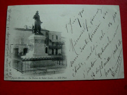 CPA 30 AIGUES-MORTES - LA STATUE DE SAINT LOUIS 1900 (IT#2869) - Aigues-Mortes