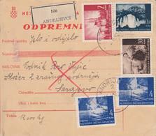 Croatia WWII NDH 1942 Parcel Card Mixed Franking - Croatia