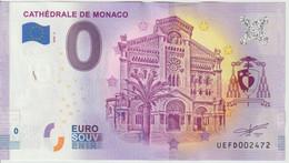 Billet Touristique 0 Euro Souvenir Monaco Cathédrale 2020-3 N°UEFD002472 - Private Proofs / Unofficial
