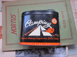 Old Tin Box Camping 50 Gr Pfeifentabak Original Mischung Ausgesuchter Spitzer Tabake Alfred Breining Tabakfabrik - Schnupftabakdosen (leer)