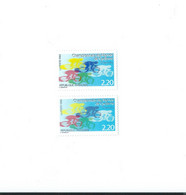 2590 A Impression Double Du Bleu Foncé  - 1 Normal Livré - Prix Très Très  Bas RARETE - Curiosidades: 1980-89  Nuevos