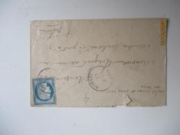 Bureau Passe 1565 Poste Ferroviaire   Lettre De Saignes Cachet Type 16 - 1877-1920: Semi-moderne Periode