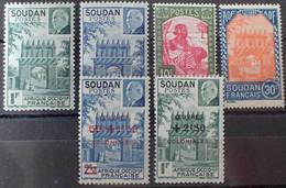 R2062/487 - 1941/1944 - COLONIES FR. - SOUDAN - N°129 à 134 NEUFS* - Nuovi