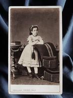 Photo CDV Abdullah à Constantinople  Fillette  Ruban Dans Les Cheveux  CA 1865 - L335 - Anciennes (Av. 1900)