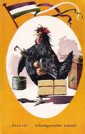 Vorsicht - Schwiegermutter Kommt - Henne Mit Gesicht       (A-282-200721) - Humor