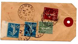 Etiquette Colis Paris 51 Providence (4.08.1926) Pour Saint Germain En Laye Tarif à 1 F 15 - 1921-1960: Moderne