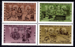CANADA - 1989 WWII ANNIVERSARY SET 1st SERIES (4V) FINE MNH ** SG 1346a - Unused Stamps