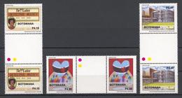 Botswana, 2008, Television, Heart Foundation, Diamond Society, MNH Gutter Pairs, Michel 890-892 - Botswana (1966-...)