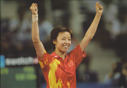 Zhang Yining, China Gold Table Tennis 2004 Athens Olympic Games - Mint Postcard From China (South China - Estate 2004: Atene