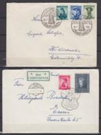 Österreich 2 Christkindl-Belege Der Jahre 1952 Und 1956 Mit SSt 1950 ! ( Dieser Beleg Rs. Rauhe Öffnung) - 1945-60 Cartas
