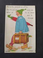 """Carte à Système """"N'as-tu Jamais Vu VIRE"""" / HEMGEY - D.D. / Dans La Valise, Parapluie (tirette) - Vire"""