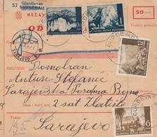 Croatia WWII NDH 1943 Parcel Card Mixed Franking - Croatia