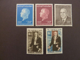 TUNISIE, Année 1960-64, Portraits Président Bourguiba, YT N° 507-508-569-570-586 Neufs MH* - Tunesien (1956-...)