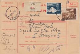Croatia WWII NDH 1942 Complete Parcel Card Mixed Franking - Croatia