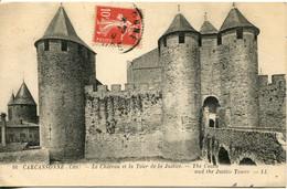 CPA - CARCASSONNE - CHATEAU ET TOUR DE LA JUSTICE - Carcassonne