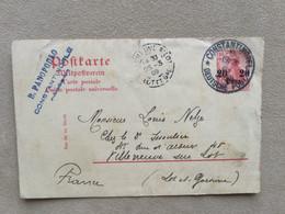 Cachet Constantinople–Villeneuve-sur-Lot–poste Allemande - Covers & Documents