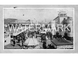 BLACKPOOL PLEASURE BEACH NICE OLD B/W POSTCARD BUSY SCENE RIDES KATZENIMMER CASTLE JOY WHEEL - Blackpool
