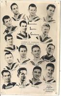 ASSOCIATION SPORTIVE CHERBOURG . CHAMPION NORMANDIE 1956/57 + AUTOGRAPHES - Authographs