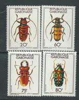 Gabon N° 399 / 402 XX  Coléoptères, Les 4 Valeurs Sans Charnière, TB - Gabon