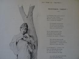 Menu Ancien N° 264 En 1901de L' IllustrateurGeorges Meyer Peintre  Pour Pierre Carrier Belleuse Artiste Peintre Carpin - Menus