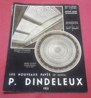 Feuillet Publicitaire Art Déco P.Dindeleux Constructeur Paris Coupole Verre Building Marignan Dallages Verre Béton Armé - Publicidad