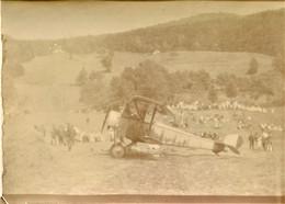 PHOTO FRANÇAISE - AVION BIPLAN NIEUPORT A CORCIEUX PRES DE GERARDMER VOSGES - GUERRE  1914 1918 - 1914-18