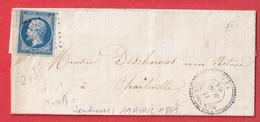 N°14 PC 3516 VENDRESSE ARDENNES CAD TYPE 22 CHARLEVILLE INDICE 12 - 1849-1876: Klassieke Periode