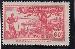 Cote D'ivoire 1944 Region Cotiere 60c YT 172 Neuf** - Nuevos