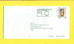 STORIA POSTALE ITALIA - ISOLATI SU  BUSTA - - 1991-00: Poststempel